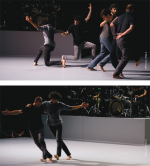 From a True story Contemporary vision of a folk dance on drums